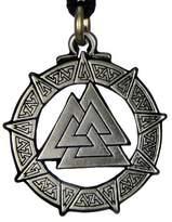 Pepi Valknut Warrior's Knot Pendant Valkyrie Viking Pendant Asatru Jewelry