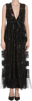 RED Valentino Lace Detail Maxi Dress