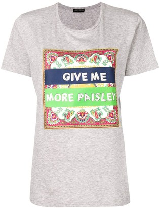 Etro paisley patch T-shirt