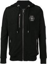 Philipp Plein logo hooded sweatshirt - men - Cotton - XL