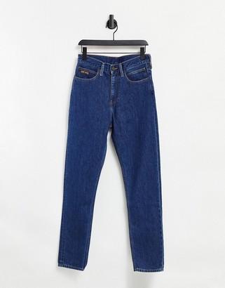 Calvin Klein EST 1978 narrow straight jeans in dark wash blue