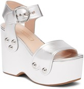 Marc Jacobs Lana Wedge Leather Sandal