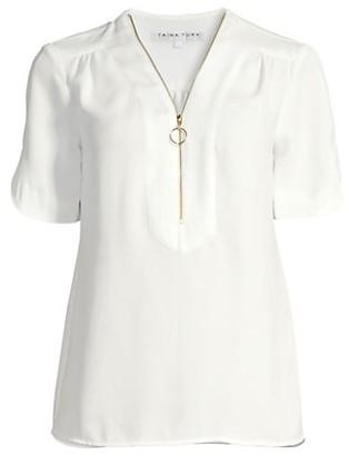 Trina Turk Amethyst Half-Zip T-Shirt