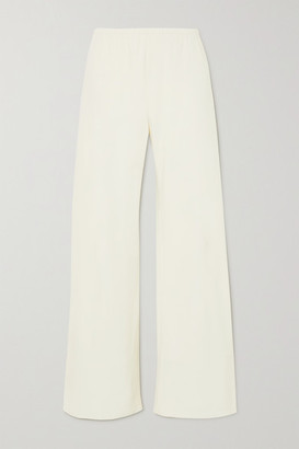 The Row Gala Crepe Wide-leg Pants - Off-white