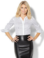New York & Co. 7th Avenue Design Studio - Madison Stretch Shirt - Stripe