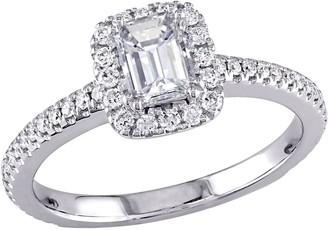 Affinity Diamond Jewelry Affinity 14K 0.85 cttw Emerald-Cut Diamond Halo Ring