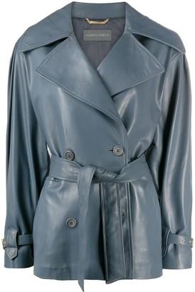 Alberta Ferretti Vintage Cut Leather Jacket