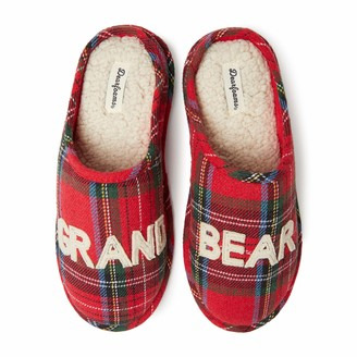Dearfoams Family Collection Grand Bear Plaid Clog Slipper