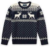 Ralph Lauren Childrenswear Reindeer Crewneck Sweater