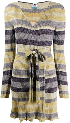 M Missoni Striped Wrap Dress