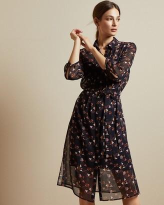 Ted Baker RONNIY Geo print shirt dress