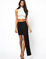 Asos Maxi Skirt with Stepped Hem