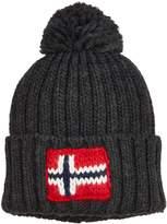 Napapijri Semiury Bobble Hat in Dark Grey