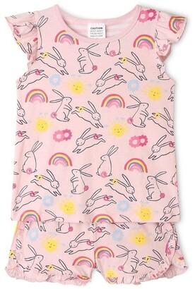 Milkshake Bunny Print Pyjama Set