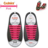 Coolnice® No Tie Shoelaces for Adults DIY 16pcs - Environmentally safe silicone - Lazy Shoestrings - Color of