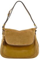 Tom Ford Jennifer Medium Suede Shoulder Bag, Olive