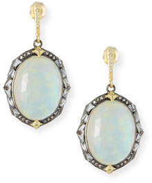 Armenta Old World Triplet Oval Drop Earrings