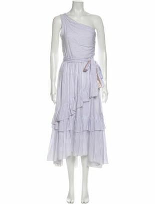 Ulla Johnson Striped Long Dress White