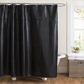 Lush Decor Rylee Shower Curtain, 72 by 72-Inch, Black