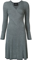 Designers Remix striped rib knit dress