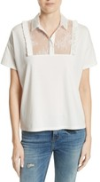 The Kooples Women's Lace & Ruffle Cotton Top