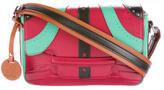 M Missoni Layered Leather Shoulder Bag