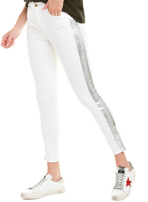 Frame Le High Blanc Foil Tux Skinny Leg