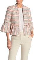 DOLCE CABO Ruffle Flare Stripe Woven Jacket