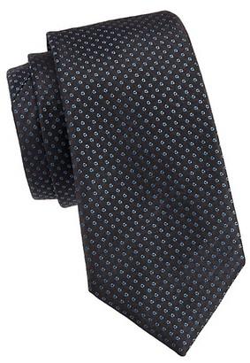 Emporio Armani Micro Dot Silk Tie