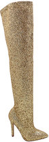 Wild Diva Gold Malanie Over-the-Knee Boot
