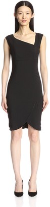 Society New York Women's Asymmetrical Neck Dress