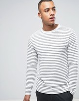 ONLY & SONS Long Sleeve Top In Bretton Cotton Stripe