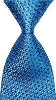 R-ABC Mr.ZHANG New Classic Florals Blue JACQUARD WOVEN Silk Men's Tie Necktie