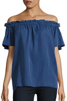 French Connection Solid Off-The-Shoulder Top