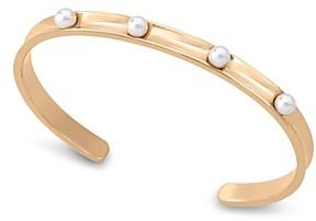 Majorica Simulated Pearl Studded Thin Cuff Bracelet