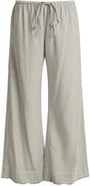 Velvet by Graham & Spencer Esta striped cotton trousers