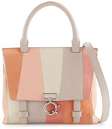 Derek Lam 10 Crosby Mini Ave A Patchwork Satchel Bag, Neutral Pattern