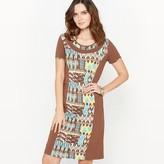 Anne Weyburn DrapedPrinted Dress