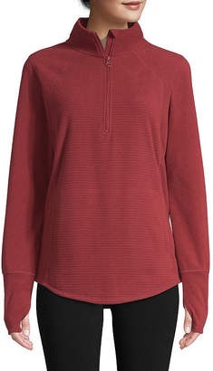 ST. JOHN'S BAY SJB ACTIVE Active-Tall Womens Turtleneck Long Sleeve Pullover Sweater