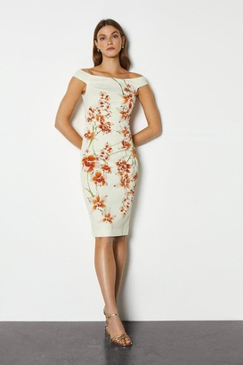 Karen Millen Italian Stretch Orchid Print Pencil Dress