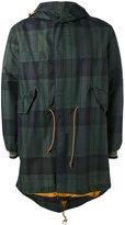 Mr & Mrs Italy - checked hooded coat - men - Polyurethane/Wool/Polyamide - M