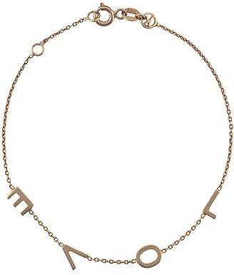 Kismet by Milka 14kt rose gold Love spaced out bracelet