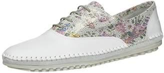 Marc Shoes Women's Luna Derbys, Weiß (Weiß-228), 40 EU