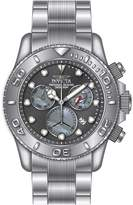 Invicta 20344 Men's Pro Diver Chronograph Gunmetal Dial Steel Bracelet Dive Watch
