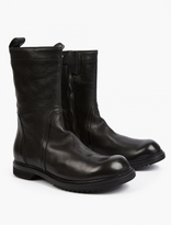 Rick Owens Black Leather Ankle Boots