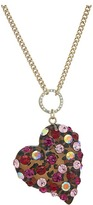 Betsey Johnson Pink and Gold Long Pendant Necklace Necklace