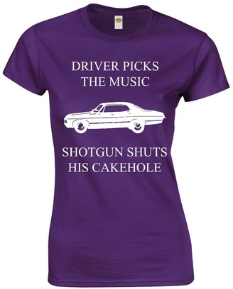 Crown Designs Driver Picks The Music Horror Teen Fiction TV Show Inspired Gift for Women & Teenagers Fitted T-Shirts Tops - Grey/S - 6/8