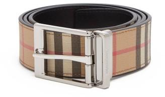 Burberry Vintage-check Reversible Canvas Belt - Mens - Multi