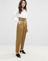 MANGO Highwaist Utility Pants
