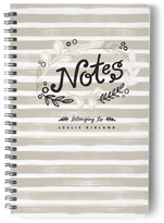Minted Grey Stripe Notes Day Planner, Notebook, or Address Book